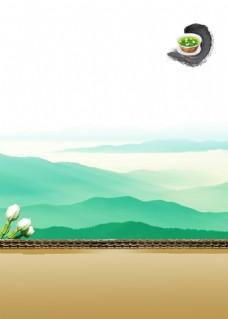 普洱茶艺古风背景