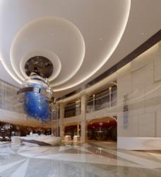 低调奢华房产售楼处3d模型效果图