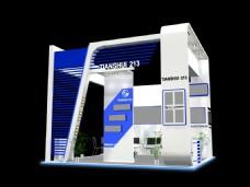 现代办公展厅模型