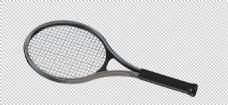黑色网球拍免抠png透明图层素材