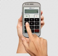 手持智能手机图免抠png透明图层素材