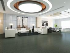 现代风尚客厅实木木地板3D渲染图