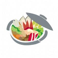 海鲜砂锅元素素材