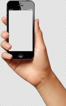 手持智能手机图片免抠png透明图层素材