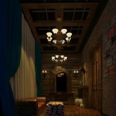 中式咖啡店酒吧客厅