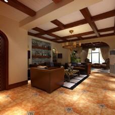 家装美式客厅别墅