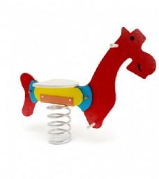 儿童彩色弹簧玩具马