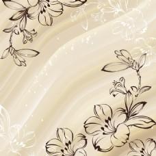 手绘梅花盛开图