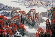 山川河流背景墙素材