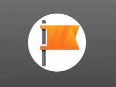 橙色旗帜图标sketch素材