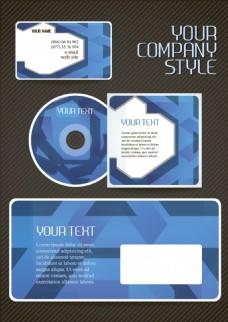 蓝色大气企业标识应用矢量素材