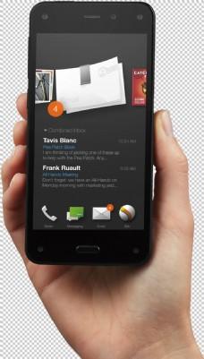 手拿智能手机图片免抠png透明图层素材