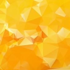 果橙多边形背景矢量素材