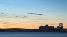城市夕阳海港视频素材设计