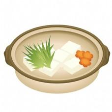 手绘砂锅食品元素素材