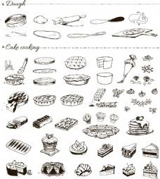 肉夹馍手绘实物装饰矢量元素素材