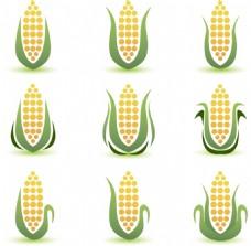 绿色蔬菜玉米矢量素材
