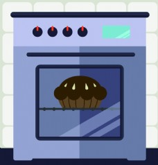 烤箱广告背景装饰素材