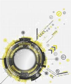 抽象科技感黄色矢量背景素材