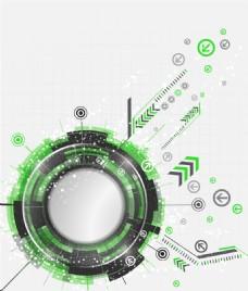 抽象科技绿色矢量背景素材