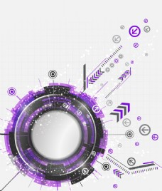 抽象科技感矢量紫色背景素材