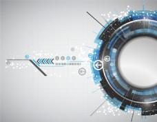 蓝色的抽象科技感矢量背景素材