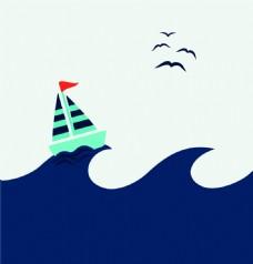 帆船广告背景装饰素材