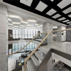 现代风格两层别墅楼梯效果图