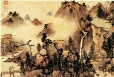 山水名画背景墙
