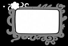 花边白色背景视频素材