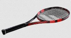 红黑色网球拍免抠png透明图层素材