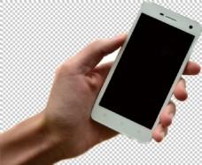 手拿智能手机图免抠png透明图层素材