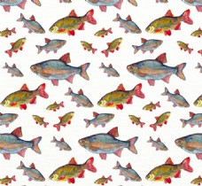 大鱼小鱼花纹背景图