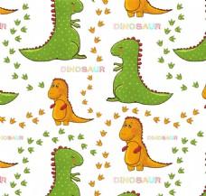 绿色恐龙化石花纹背景图