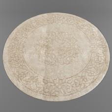 中式风格花纹圆形地毯