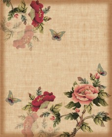 中式风赏玫瑰花大图