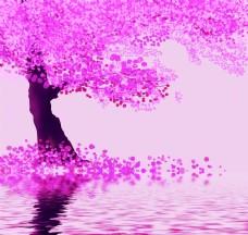 粉色现代简约风格背景墙
