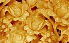 艺术花卉浮雕背景墙