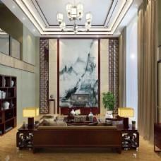 中式客厅家装背景墙