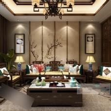 美式时尚客厅装修效果图