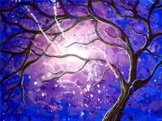 美丽树枝背景墙素材