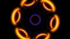动感彩色圆环酒吧舞会视觉特效