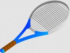 蓝色网球拍免抠png透明图层素材