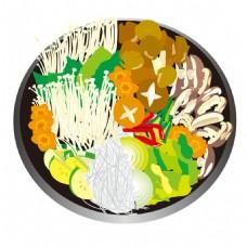 砂锅麻辣烫素材图片
