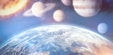 星空星球背景图