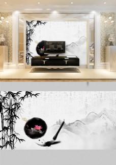 中国风背景墙设计PSD设计