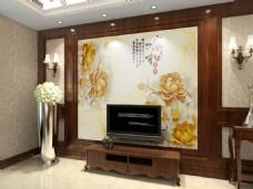 电视背景墙效果图模版