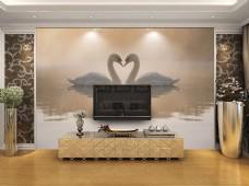 欧式风格设计背景墙