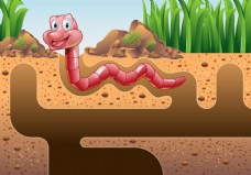 昆虫土壤矢量素材