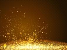 金色光效交叉背景